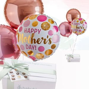 Mother's Day Balloon Bouquet And Luxury Chocolates Gift