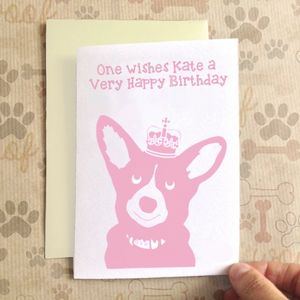 Personalised Birthday Corgi Dog Birthday Card - cards
