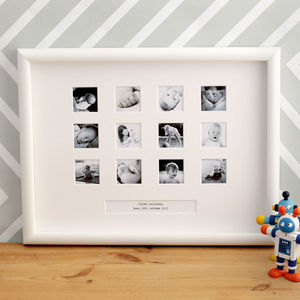 Personalised First Year Large Frame - picture frames for children