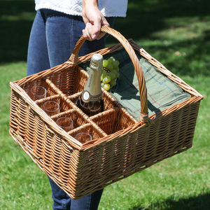 Grasmere Cooler Picnic Basket With Glass Holders