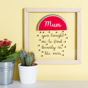 Personalised Mother's Day Watermelon Acrylic Wall Art