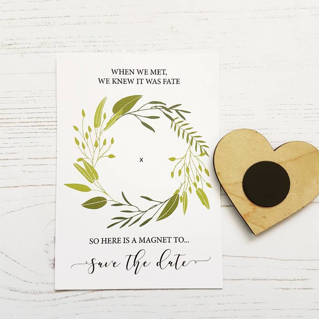 ceb82484a2ce7 Initials Wooden Save The Date Heart Magnet