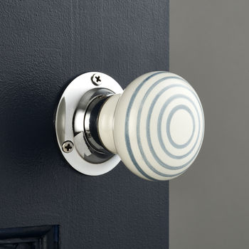 White Grey Internal Turning Mortice Door Knobs