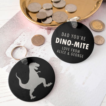 Personalised Dad's Dinosaur Keyring