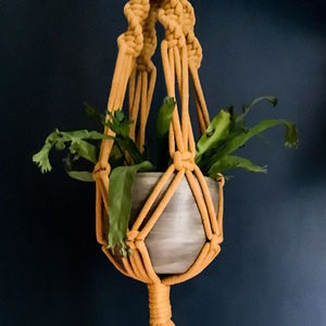Handmade Macrame Plant Hanger In Five Colour Choices - re-earthed