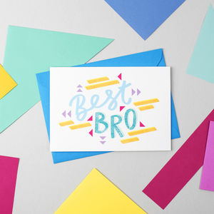 'Best Bro' Card