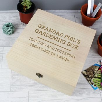 Personalised Any Text Wooden Keepsake Box