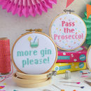 Boozy Cross Stitch Craft Kit Gift Set
