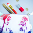 Palm Tree Tasselled Zip Pouch