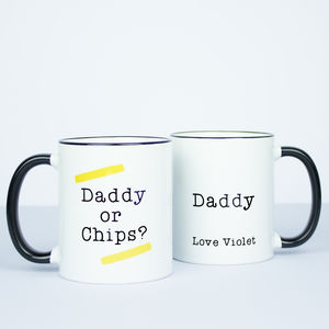 Personalised Daddy Or Chips? Mug - dining room