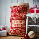 The Cotton Lined Rowland Personalised Christmas Sack
