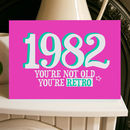 Birthday Year Card Retro 1980s
