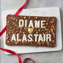 Personalised Valentine's Day Chocolate Sharing Slab