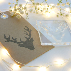 Stags Head Stamp Traditional Design - cards & wrap