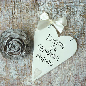 Personalised Wedding Message Heart