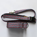 Pink Paisley Design Martingale Collar, Matching Lead
