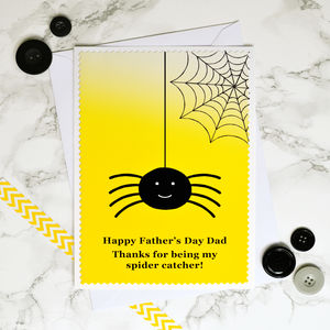 'Spider Catcher' Father's Day Card