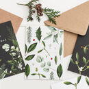 White Greenery 'Merry Christmas' Card, Gold Foil