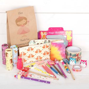 Girls Stationery Birthday Party Bag Favour Fillers