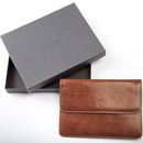 Personalised Leather Travel Wallet. 'The Torrino'