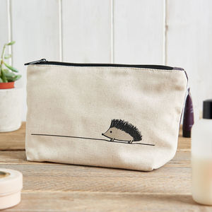 Hedgehog Zip Bag - make-up & wash bags