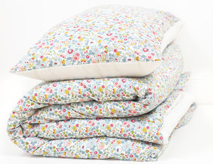 Liberty Print Duvet Set In Betsy Cot And Single - bedding & accessories