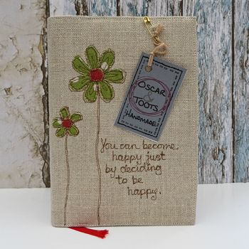 Personalised Notebook, Reusable, Flower