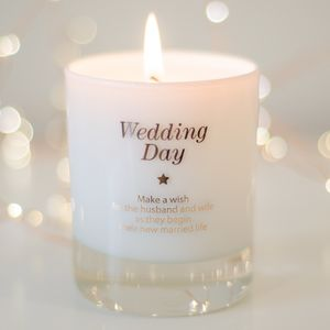 Bride And Groom Wedding Candle - best wedding gifts
