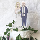 Personalised Wedding Illustrated Cake Topper