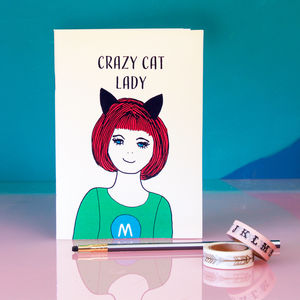 'Crazy Cat Lady' Notebook - writing