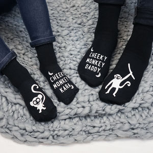 Personalised Family Monkey Sock Set - women's fashion