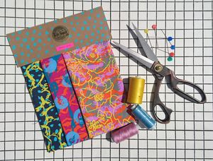 Hand Printed And Eco Friendly Fabric Pack - sewing kits