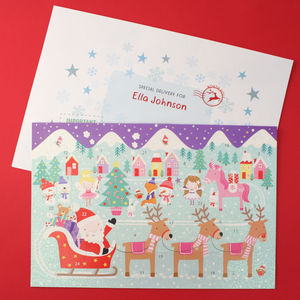 Personalised Unicorn Advent Calendar With Envelope - advent calendars