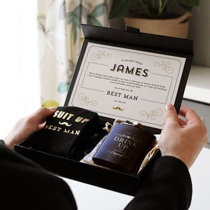 Groomsman Gift Box - be my bridesmaid?