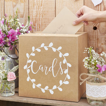 Kraft Wedding Card Holder Post Box