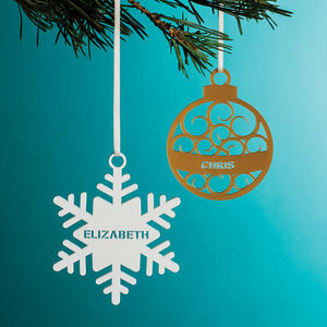 Personalised Christmas Tree Decoration - personalised gifts