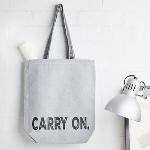 Carry On Recycled Canvas Bag