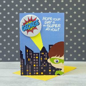 Personalised Superhero Birthday Card Boy - birthday cards