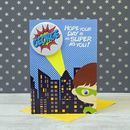 Personalised Superhero Birthday Card Boy
