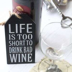 Bad Wine Sign - home accessories