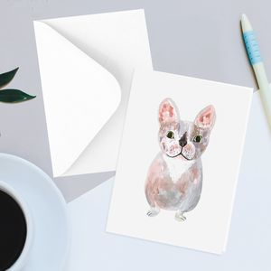 Cute French Bulldog Greetings Card