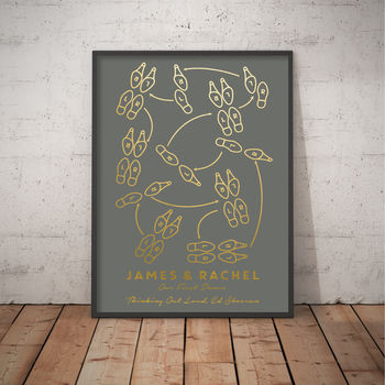 Personalised First Dance Foil Print