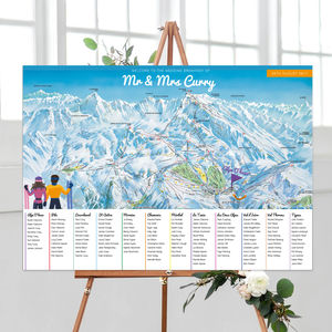Ski Table Plan - table plans