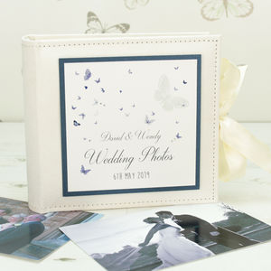 Personalised Papillon Wedding Photo Album - albums & guest books