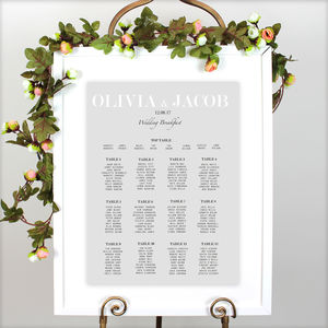 Modern Traditional Wedding Table Plan - table plans