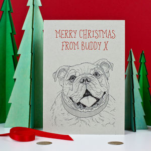 Bulldog Christmas Card - cards