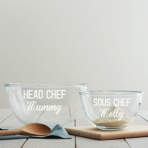 Personalised Mother's Day Mixing Bowl Set - baking