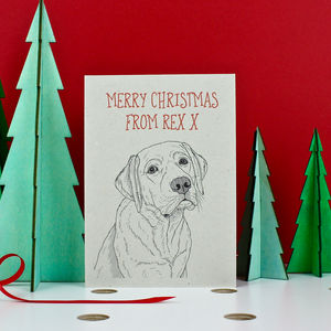 Labrador Christmas Card - cards & wrap