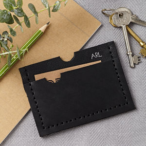 Personalised Black Card Holder - 21st birthday gifts