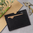 Personalised Black Card Holder